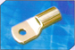 Tinned copper heavy duty cable terminal ends with inspection slot